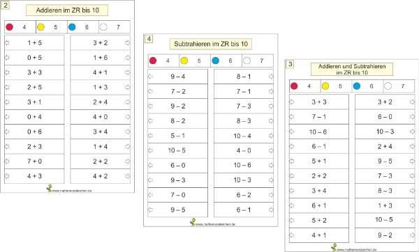 Mathemonsterchen - Addition und Subtraktion