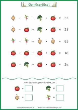 Mathemonsterchen - Rätsel-Gleichungen