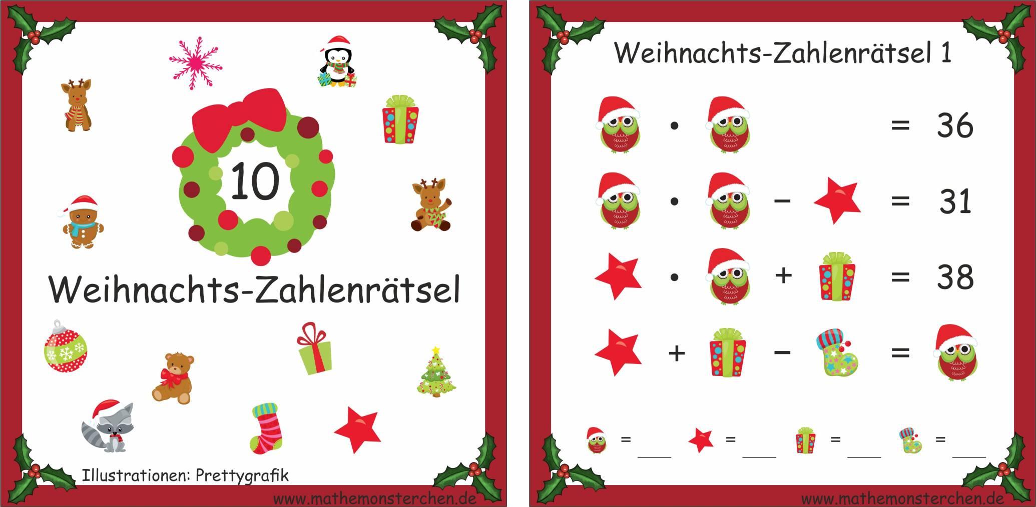 1 Weihnachten.Mathemonsterchen Weihnachten